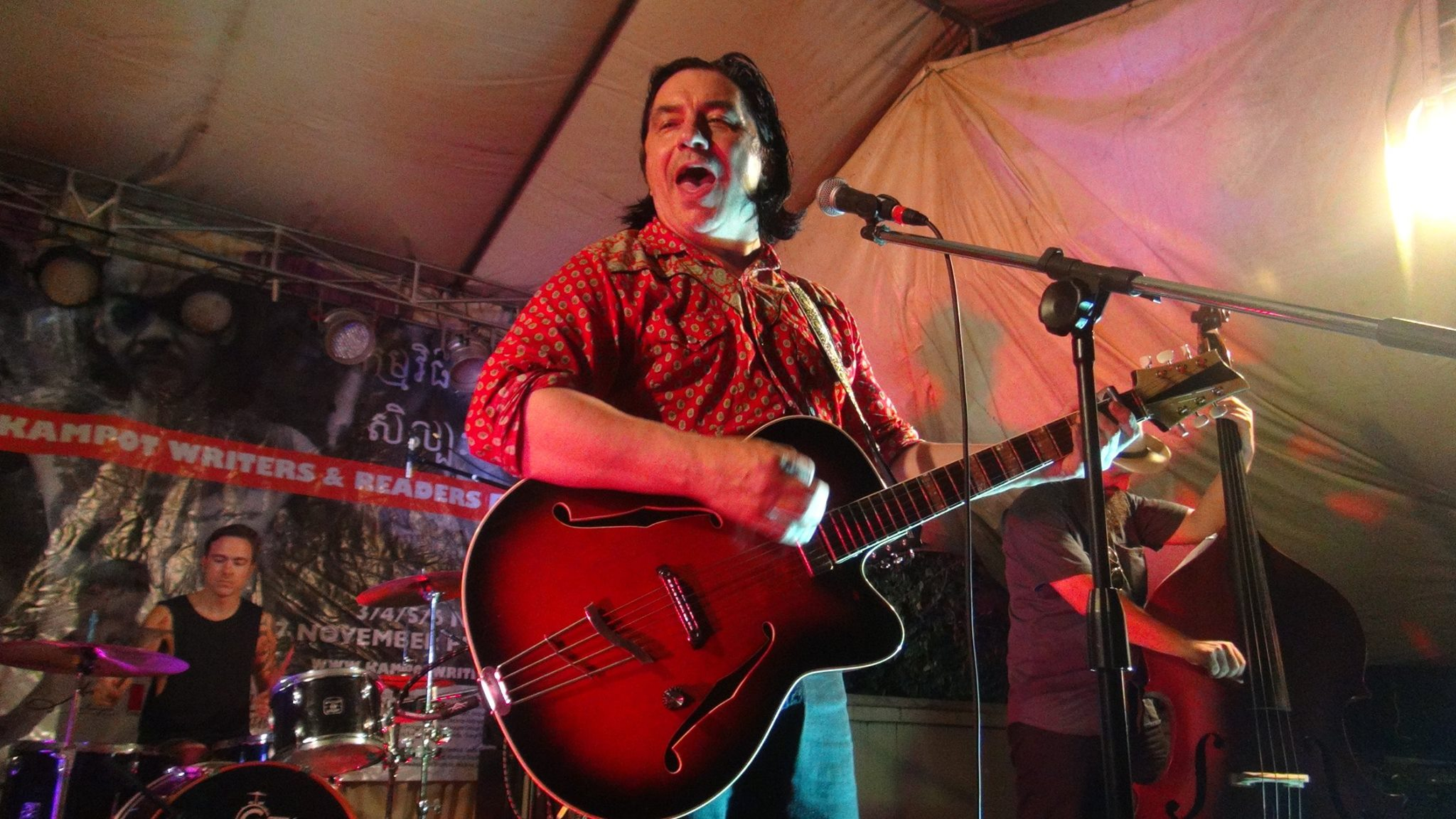 Rich Webb Band at the Kampot Writers and Readers Festival 2016