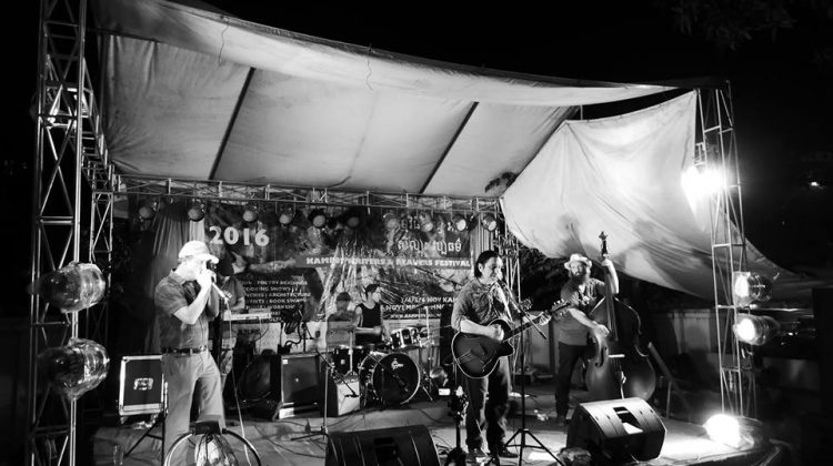 Rich Webb Band at the Kampot Writers and Readers Festival, Cambodia