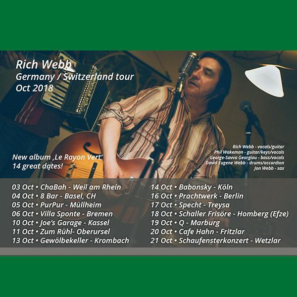 Rich webb tour 2018 - Germany Switzerland
