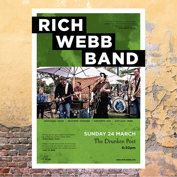 Rich Webb Band Drunken Poet poster