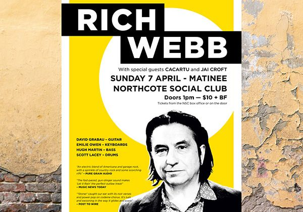 Rich Webb - Northcote Social Club - album launch - Sunday 7 April