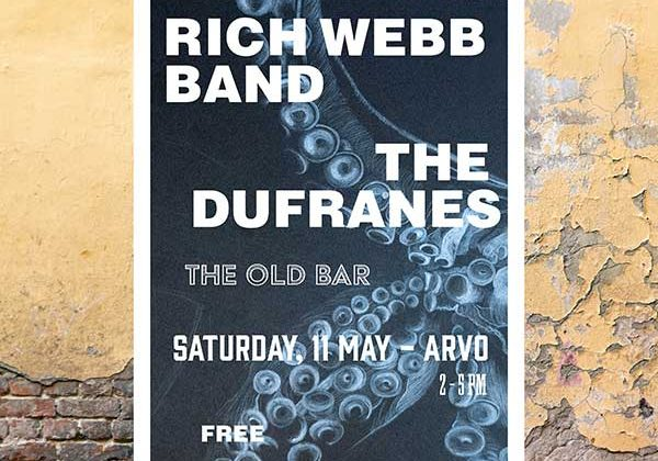 Rich Webb Band at The Old Bar, Sat 11 May, 2019