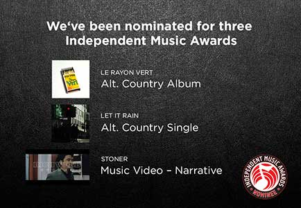 Rich Webb - three nominations in the Independent Music Awards